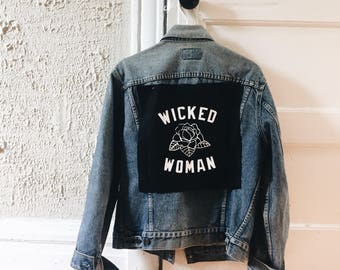 Wicked Woman Back Patch
