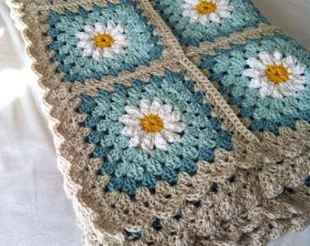 Made To Order Cotton Baby Blanket/ Granny Square Blanket/ Cotton Baby Blanket