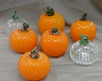 Hand blown glass pumpkins