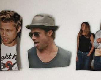Brad Pitt Inspired Magnet Set