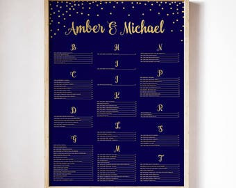Navy & Gold Wedding Seating Chart, Seating Chart, Seating Arrangement, Seating Chart Ideas, Seating Chart Wedding, Seating Chart Navy Gold
