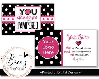 Perfectly Posh Business Cards | Card | Direct Marketing | Digital Download | Printable | Card 010