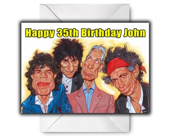 THE ROLLING STONES Personalised Birthday / Christmas / Greetings Card