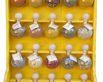 """20 bubbles yellow patina """"Bubbles of spices"""" Spice racks"""