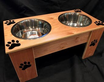 Pet Feeders,  Handmade - You choose the Size, You choose the Color & You choose the Name!!!