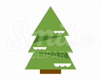 PINE TREE Clipart Illustration for Commercial Use | 0113