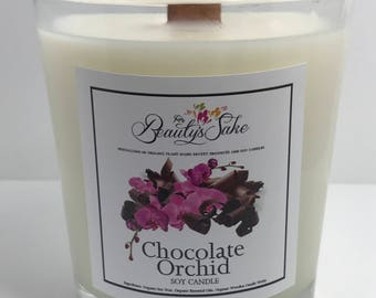Chocolate Orchid Organic Eco Soy Candle - 13 oz