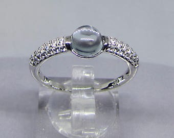 Ring (ring plus size) silver Topaz translucent size 60