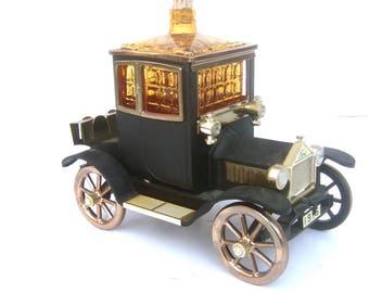 Whimsical Musical Car Theme Liquor Decanter & Shot Glass Set