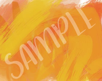 Oil Brush Strokes in Oranges and Mustard - Background 11