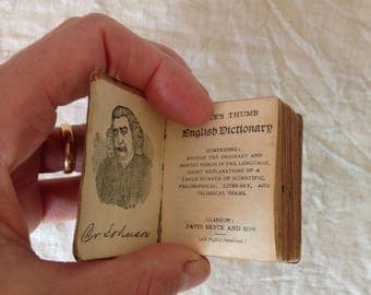 Bryce's Thumb Dictionary - Victorian Miniature Dictionary - Antique Children's Book - Tiny Dictionary - Antique English Dictionary