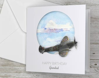 Personalized / Personalised Happy Birthday Spitfire inspired