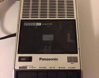 Panasonic tape recorder, vintage tape player, model rq-2309av, cassette tape player