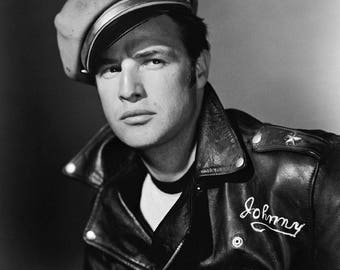 Marlon Brando The Wild One Film Actor Glossy Hollywood Black & White Photo Picture Print A4