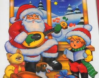 "Christmas ornament: ""Santa Claus"" decal"