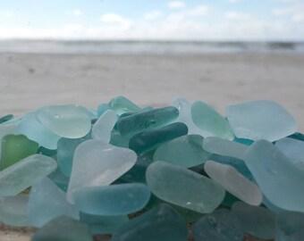 """10 pcs Light blue, Light green White TINY Genuine Sea Glass Bulk - 0,15-0,4"""" -Craft quality- Mosaic-Glass Home Decor-Wedding decor#47B#"""