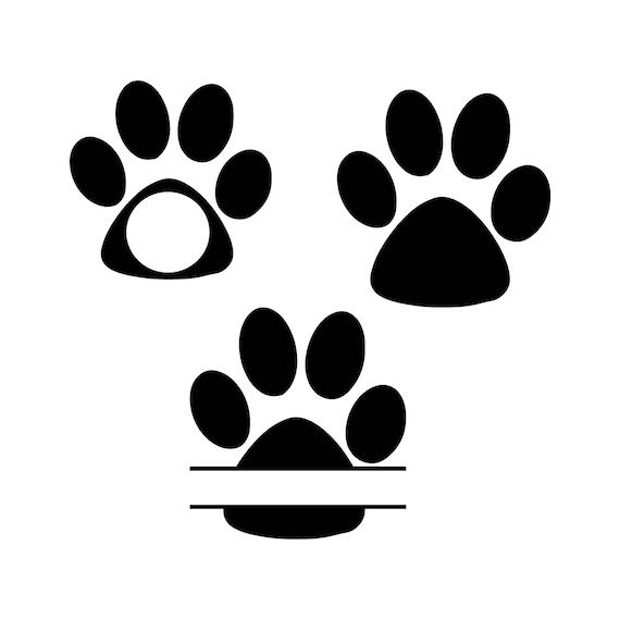 Download Paw prints svg dog svg dog monogram svg dog paw svg dog