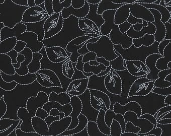 Rayon Challis - Stitched Roses