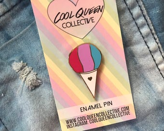 Shave Ice / Snow Cone Enamel Pin