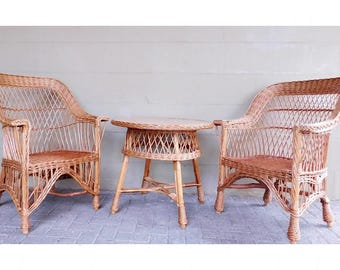 Wicker Sofa vintage