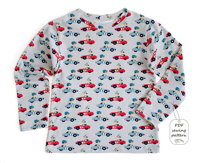 Featured listing image: Kids t-shirt pattern pdf, boys t-shirt pattern, kids sewing patterns