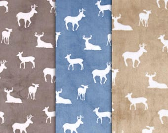Minky Deer Crib Sheet or Changing Pad Cover - Woodland Minky Crib Sheet - Minky Crib Bedding - Minky Nursery Bedding - Deer Crib Bedding