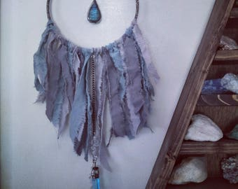 Wall hanging - with Labradorite and quartz
