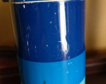Vintage King Seeley Blue Stripe Thermos