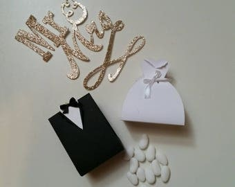 Paper Wedding favors she & he