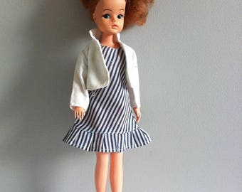 Sindy 1982 Party Girl dress and white jacket.