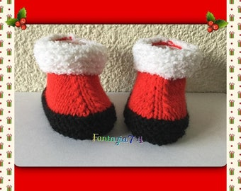 Christmas slippers woolen 1 month baby