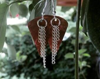 Triangle Copper Earings