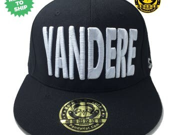 Yandere Snapback Puffy Embroidery Hat