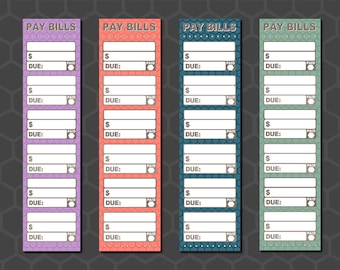 Monthly Pay Bills Stickers, Monthly Payment Sticker, Payment Stickers, Monthly Bill Stickers, Payment Tracker, Inkwell Press - BFMS01/BFML01