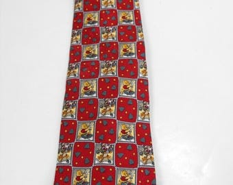 Official Disney Winnie-The-Pooh Christmas Necktie  (1221)