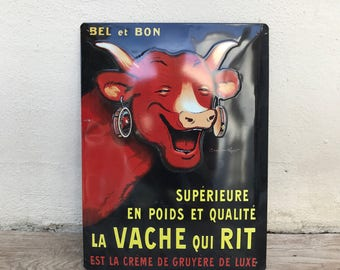 Rabier Vache qui rit metal french sign from france advertising vintage 24081723