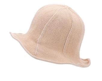 Sun hat  summer  for women large brimmed coton knit sun hat folding beach Cap