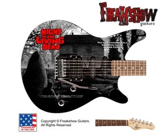 Night of the Living Dead Electric Guitar - Free US Shipping - Freakshow Guitars