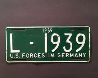 1956 U.S. FORCES In GERMANY licence plate