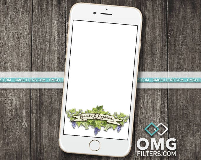 Vineyard Wedding Geofilter
