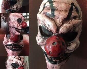 Scary Clown Latex Half Mask fits child/woman