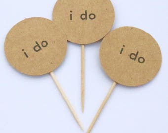 12 I do cupcake picks, rustic cupcake picks, I do cupcake toppers, cupcake toppers, I do cupcake picks, I do picks, rustic cupcake picks