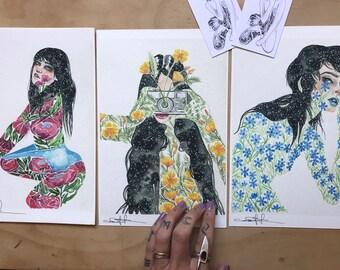 Fleur Sauvage 3 Print Set