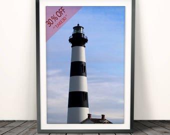Lighthouse print, Lighthouse Photography, beach print, Coastal Beach Decor, Nautical Wall Art Print, Modern Minimalist, sea , Coastal print