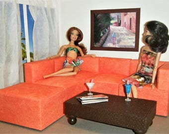 1/6 Scale Furniture Sectional Sofa   Barbie Momoko, Blythe, Pullip, Fashion Part 63