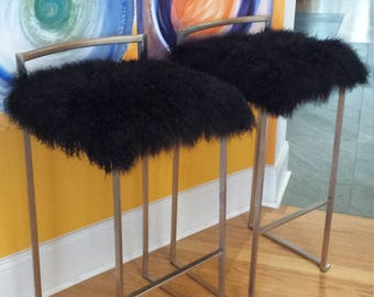 Genuine Mongolian Fur Bar Stools/Chairs