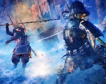 Better present , Nioh Art poster , watercolor poster, video game art, video game poster, gift for him, gift for gamer