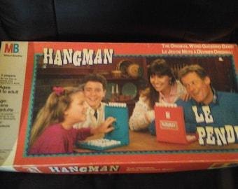 Vintage 1988 Hangman Board Game Milton Bradley Complete
