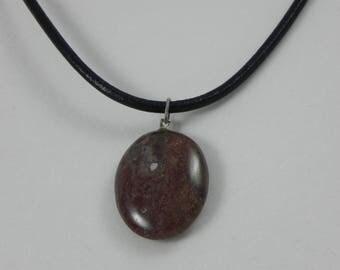 Natural Jasper pendant necklace
