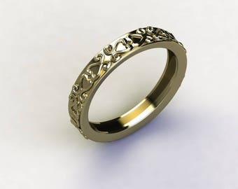 Light Ring - Decorated Gold Ring